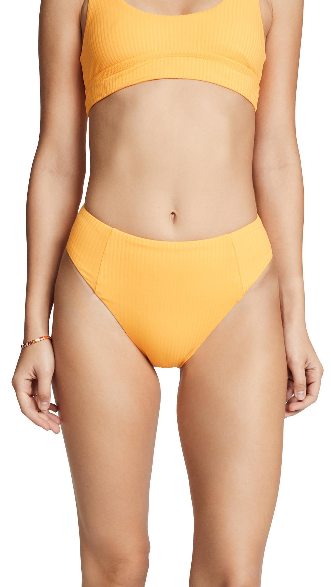 Vitamin A Sienna High Waist Bikini Bottoms In Yellow
