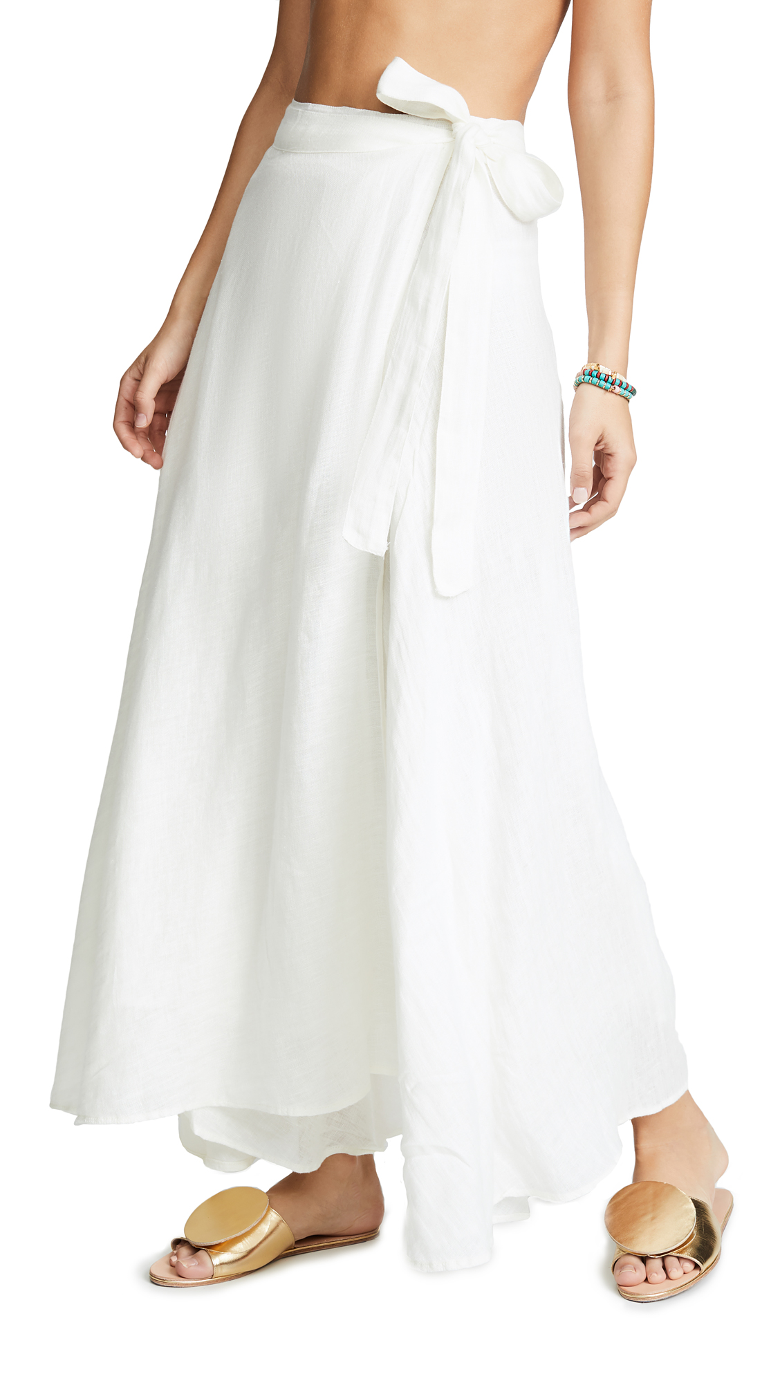 Buy Vitamin A online - photo of Vitamin A Positano Linen Cover Up Skirt