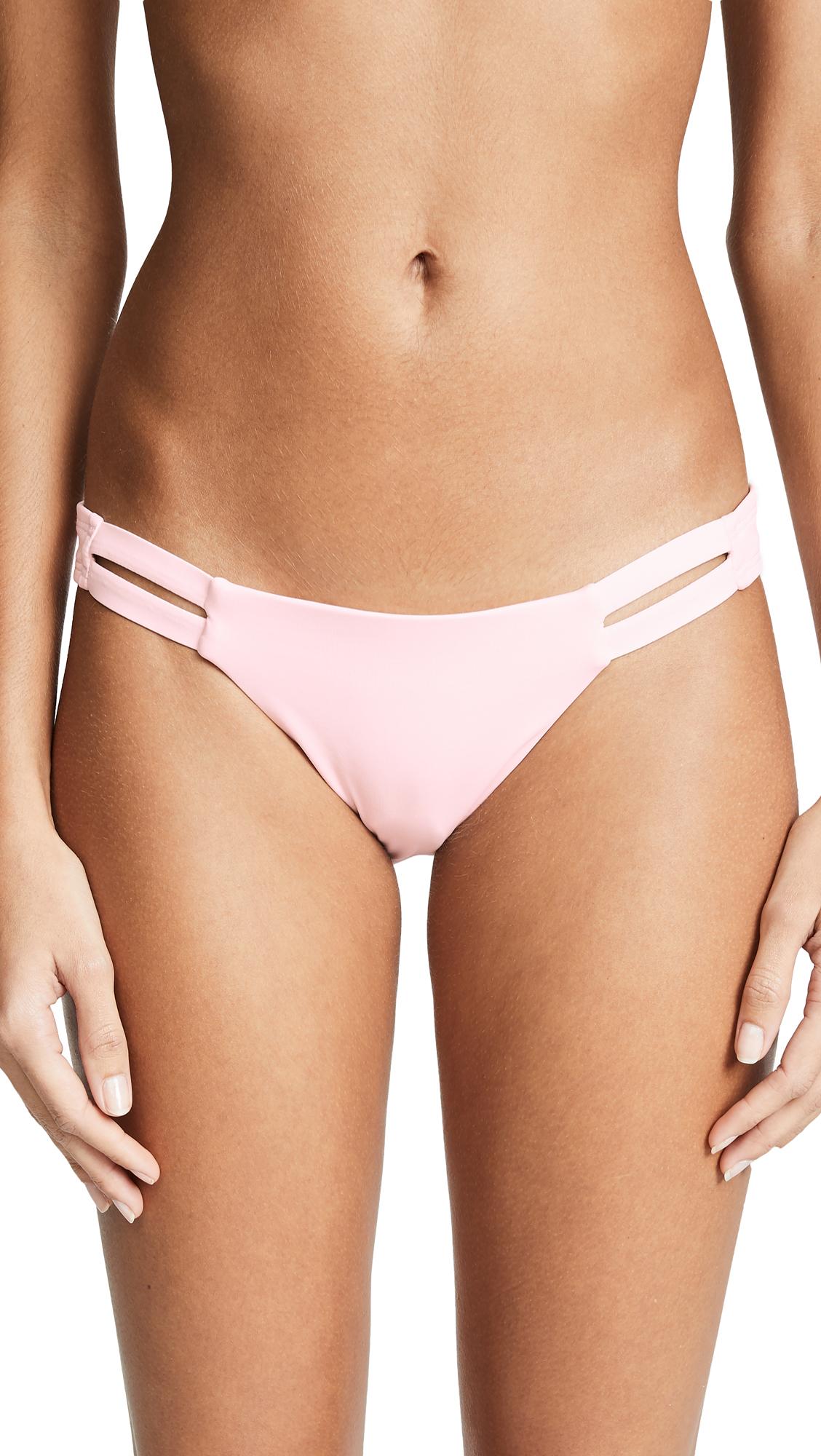 VITAMIN A Neutra Bikini Bottoms in Perla Rosa
