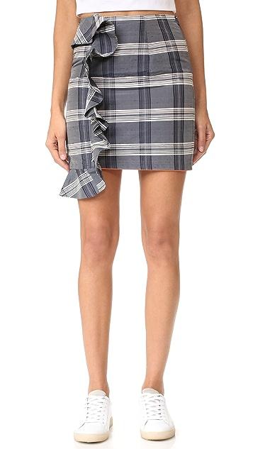Viva Aviva Mini Plaid Ruffled Skirt