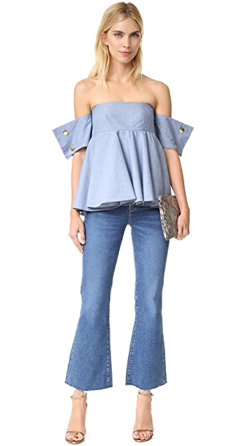 Viva Aviva French Cuff Ballerina Top