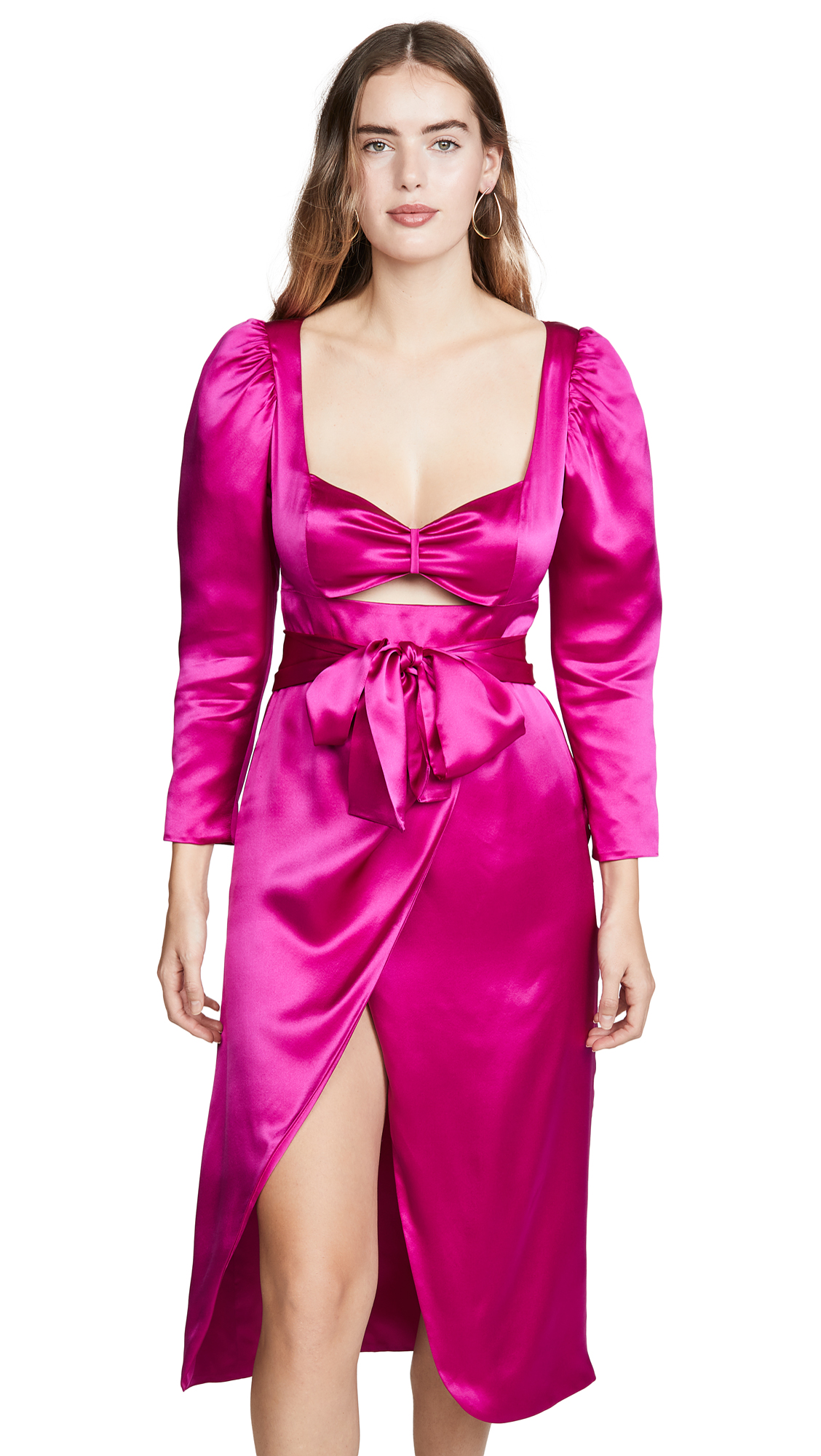 Buy Viva Aviva online - photo of Viva Aviva Tiffany Satin Draped Dress
