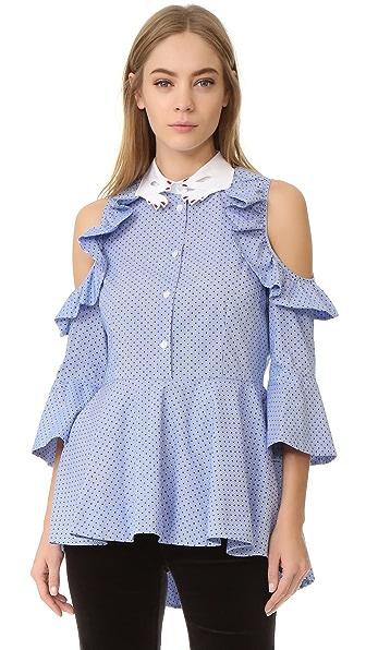 Vivetta Ruffle Sleeve Blouse