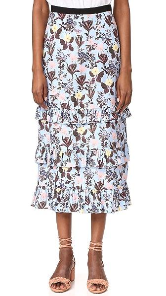 Vivetta Flounce Maxi Skirt