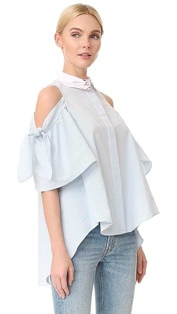 Vivetta Cold Shoulder Blouse