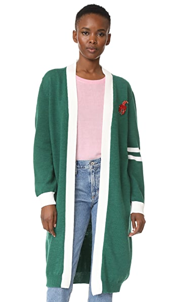 Vivetta New Hampshire Cardigan In Green/Milk