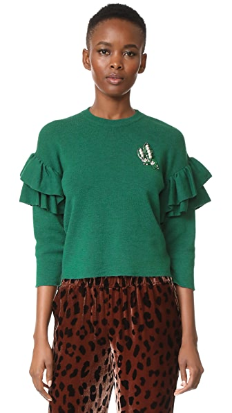 Vivetta Ribe Sweater In Green