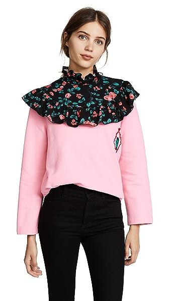 Vivetta Kanazawa Sweatshirt In Pink/Black