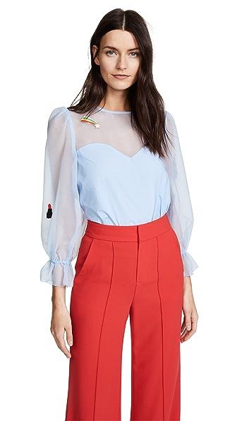 Vivetta Nashira Shirt In Light Blue