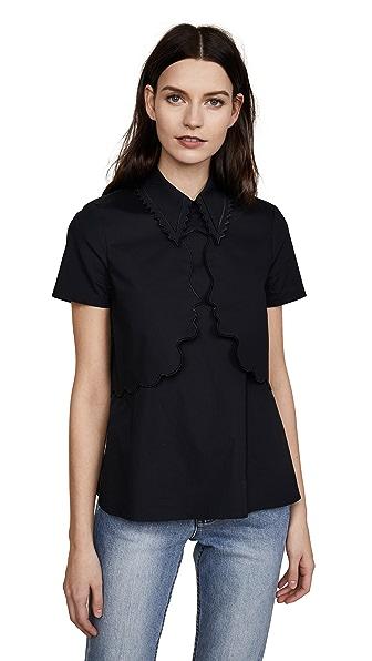 Vivetta Stenella Shirt In Black