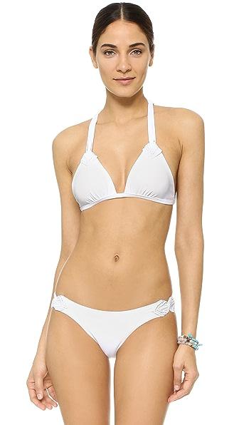 ViX Swimwear Solid White Chris Bikini Top