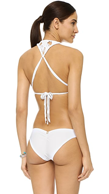 ViX Swimwear Solid White Chris Bikini Top