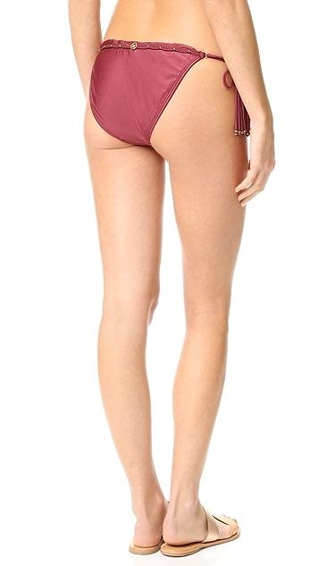 ViX Swimwear Burgundy Tie Bikini Bottoms