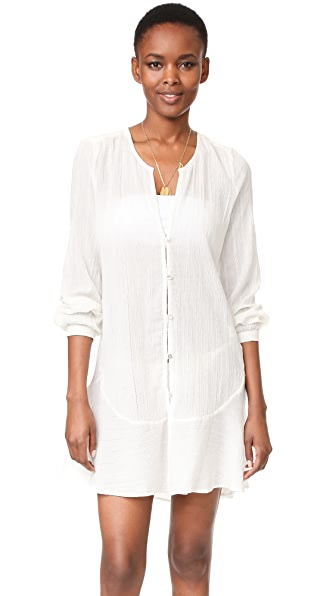 ViX Swimwear Solid Ebe Cover Up In Off White