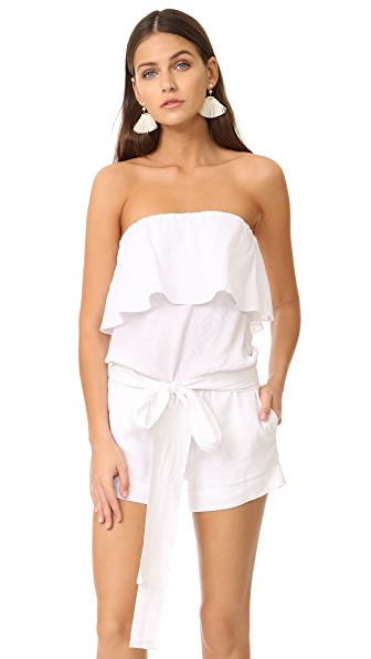 ViX Swimwear Strapless Romper - White