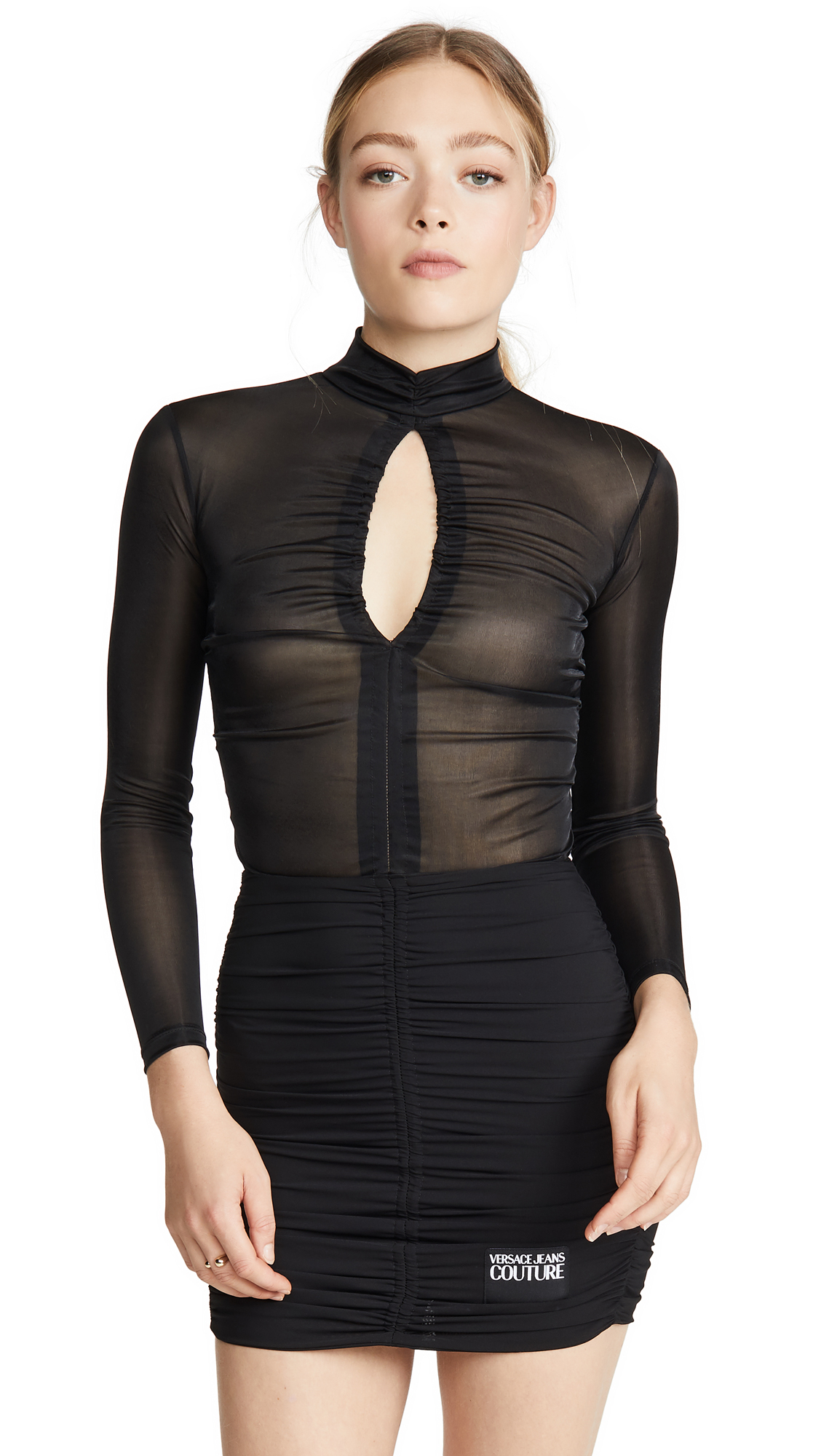 Versace Jeans Couture Turtleneck Rouched Dress - 70% Off Sale