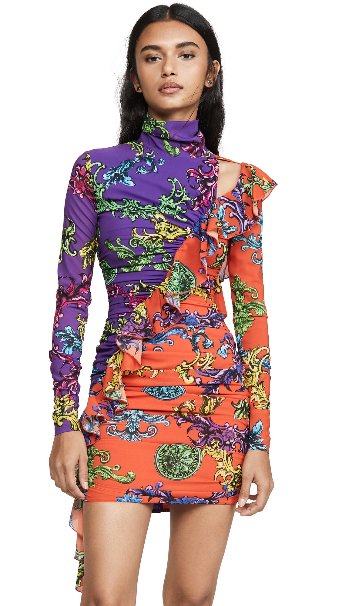 Buy Versace Jeans Couture online - photo of Versace Jeans Couture Cross Ruffle Dress