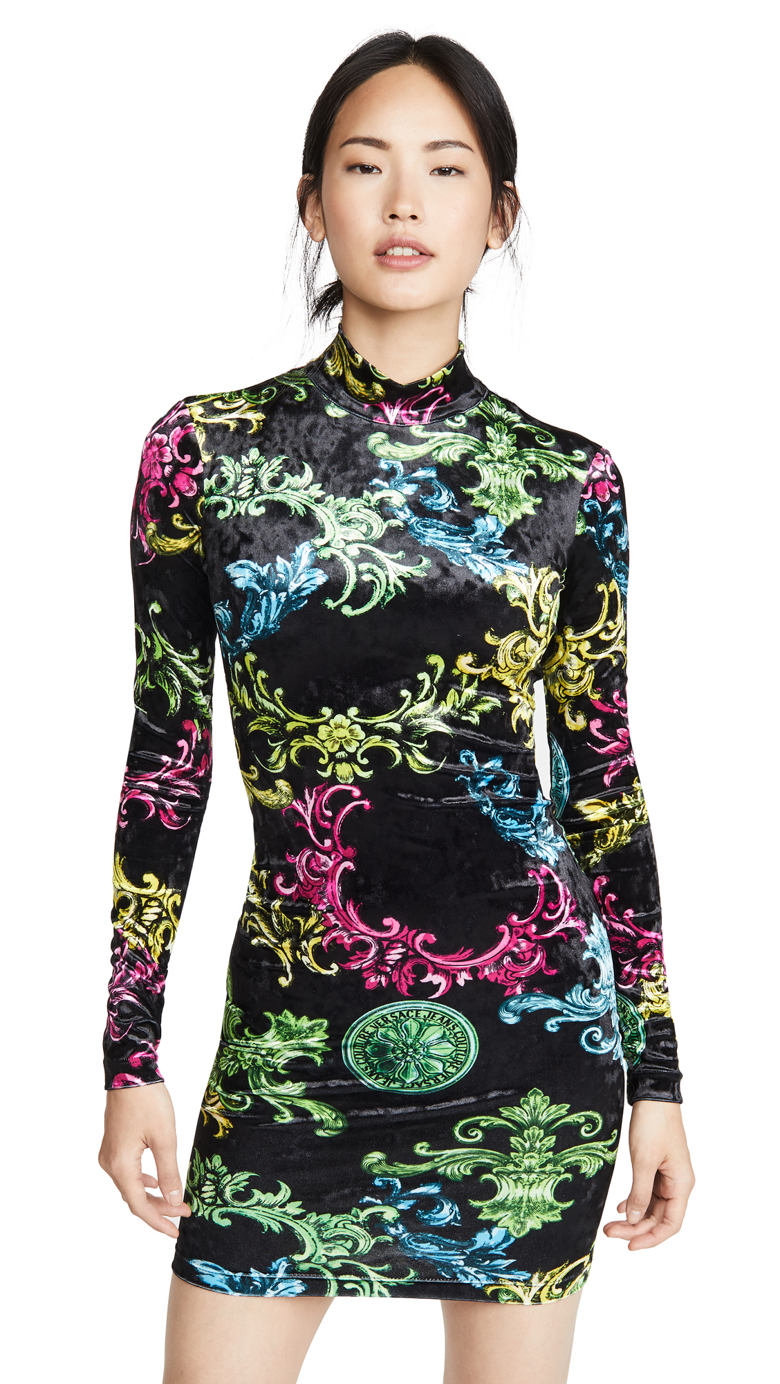 Buy Versace Jeans Couture Printed Long Sleeve Dress online beautiful Versace Jeans Couture Clothing, Dresses