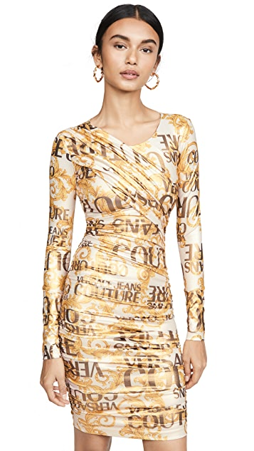Versace Jeans Couture Versace Long Sleeve Dress