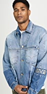 Versace Jeans Couture Rip And Repair Denim Jacket