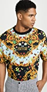 Versace Jeans Couture Lady Bug Allover Print Tee