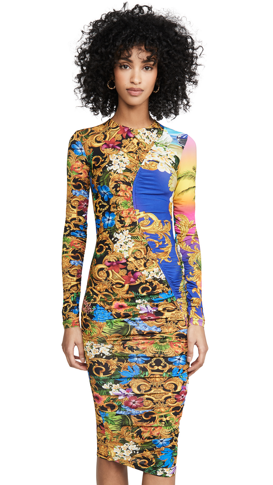 Versace Jeans Couture Ruched Dress - 40% Off Sale