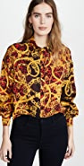 Versace Jeans Couture Printed Button Down