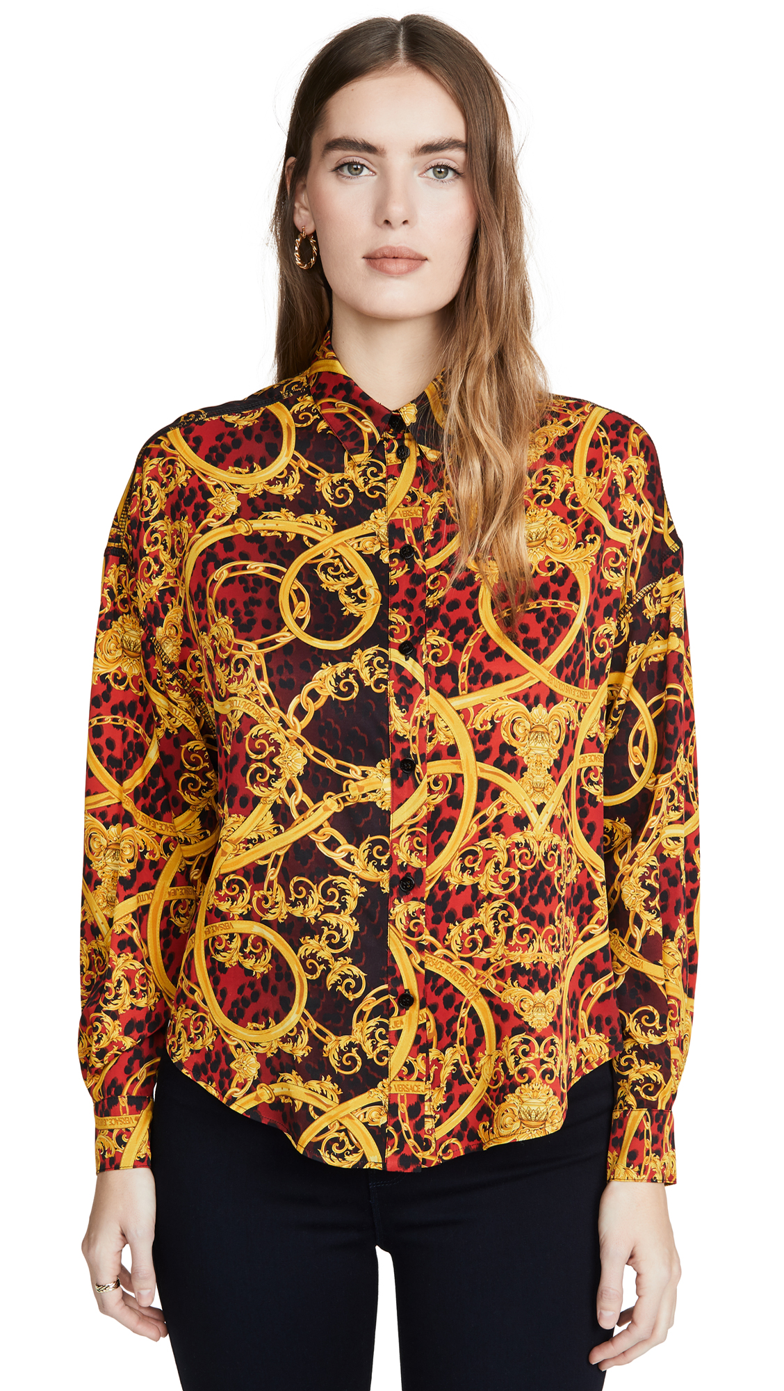 Versace Jeans Couture Printed Button Down – 45% Off Sale