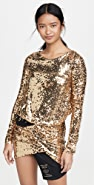 Versace Jeans Couture Sequin Dress with Belt