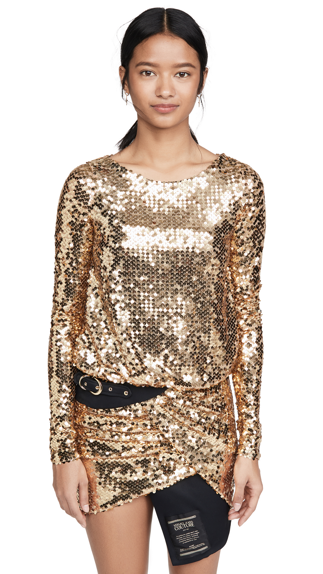 Versace Jeans Couture Sequin Dress with Belt - 50% Off Sale