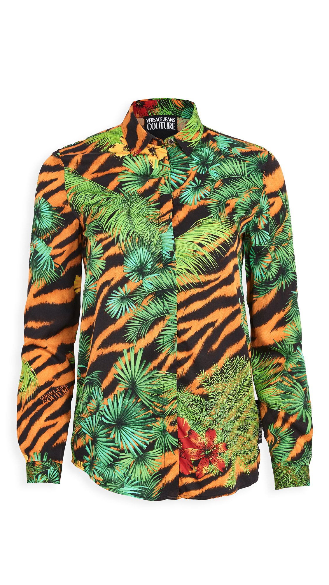 Versace Jeans Couture Printed Button Down Shirt