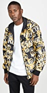 Versace Jeans Couture Logo Baroque Print Reversible Nylon Jacket