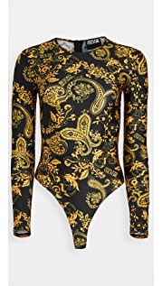 Versace Jeans Couture 腰果花印花丁字裤紧身衣