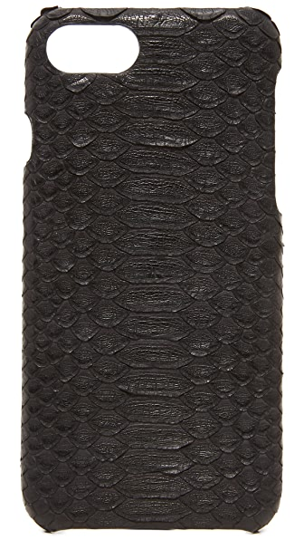 Valenz Handmade Matte Python iPhone 7 Case - Black
