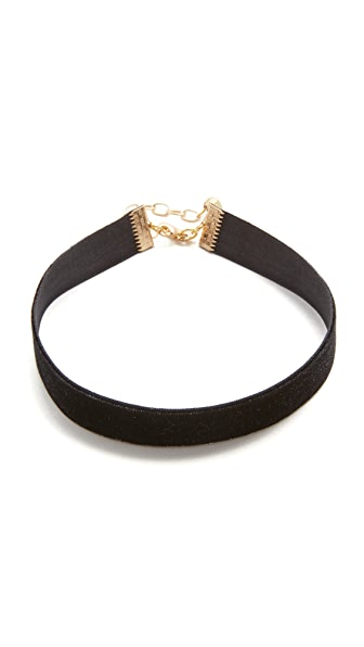 Vanessa Mooney Velvet Choker Necklace - Black