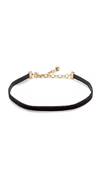 Vanessa Mooney Zoe Choker Necklace In Black