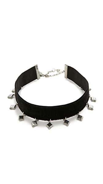 Vanessa Mooney The London Choker Necklace - Silver