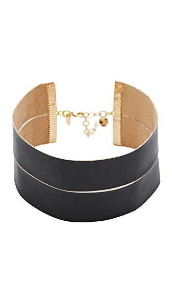 Vanessa Mooney The Demi Faux Leather Choker