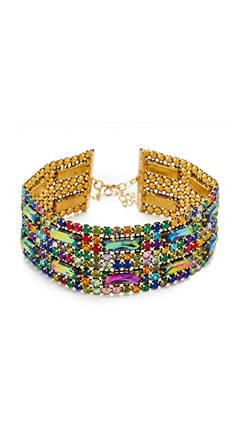 Vanessa Mooney The Dragonette Choker Necklace - Rainbow