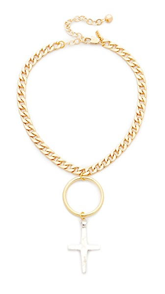 Vanessa Mooney The Embar Choker Necklace In Gold/Silver