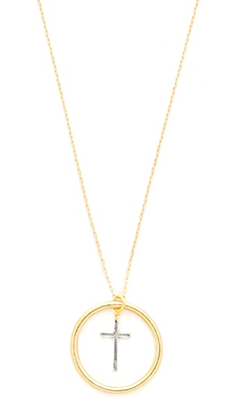 Vanessa Mooney The Amelie Necklace - Gold/Silver