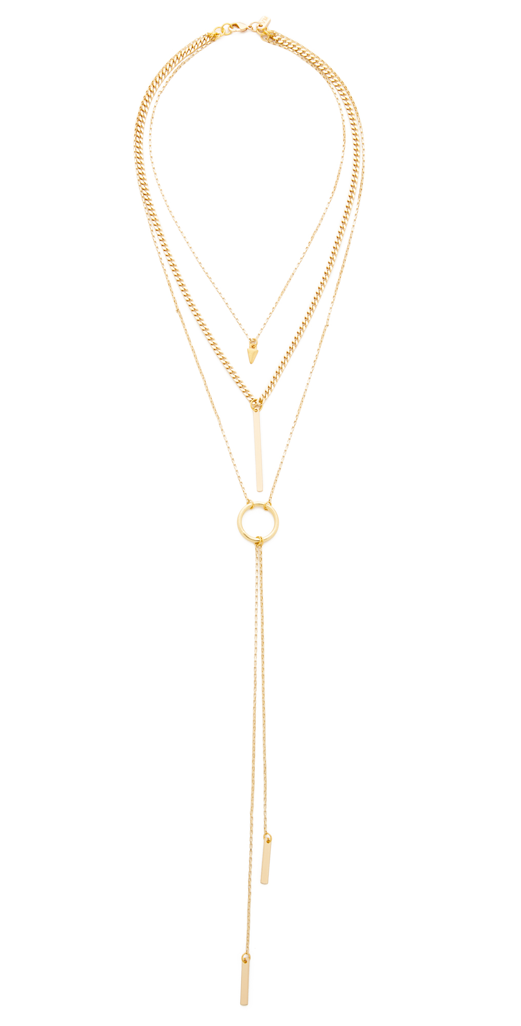 The Juno Triple Chain Necklace Vanessa Mooney