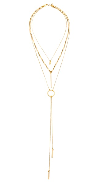 Vanessa Mooney The Juno Triple Chain Necklace