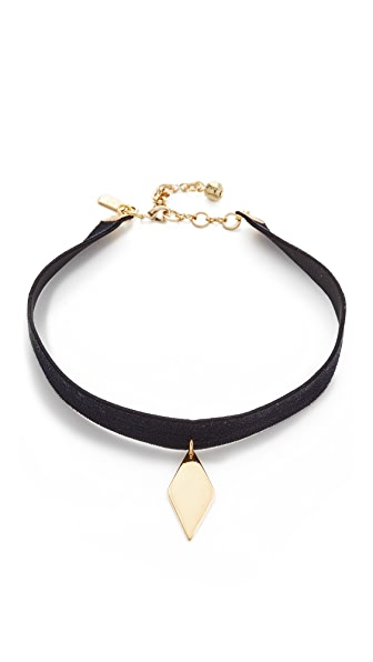Vanessa Mooney Lilly Choker Necklace - Black/Gold