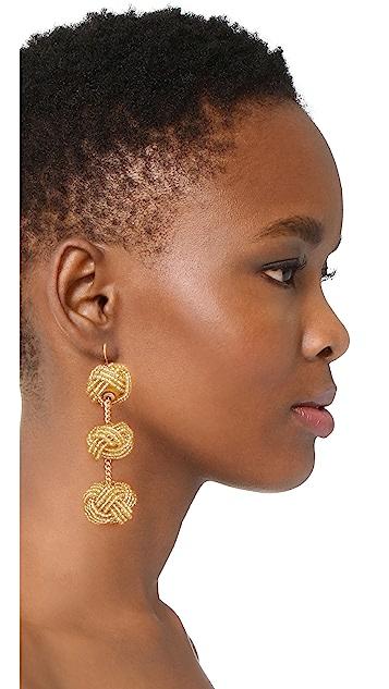 Vanessa Mooney Beaded Astrid Knot Earrings