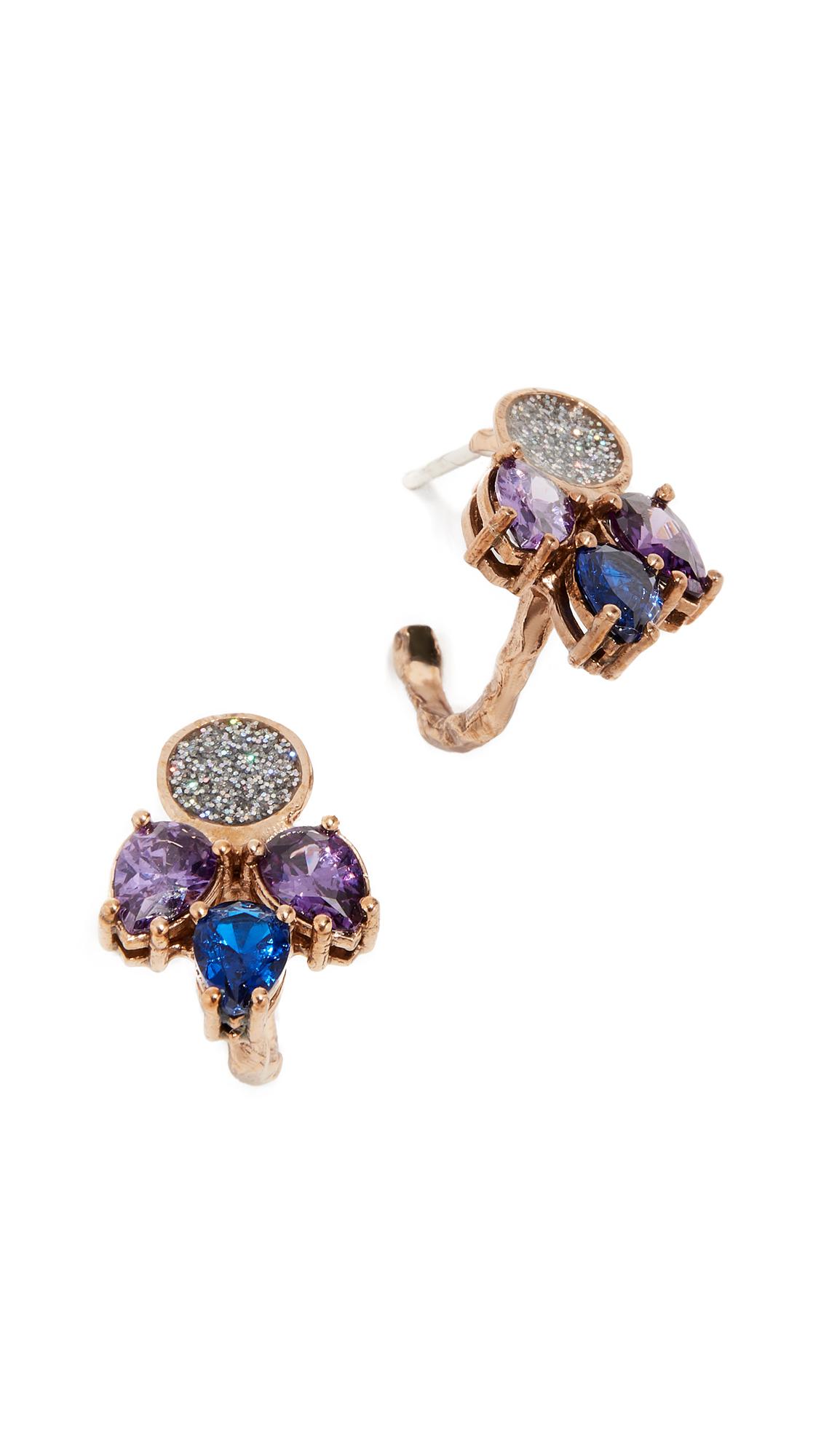 Voodoo Jewels Sava Earrings - Blue/Purple