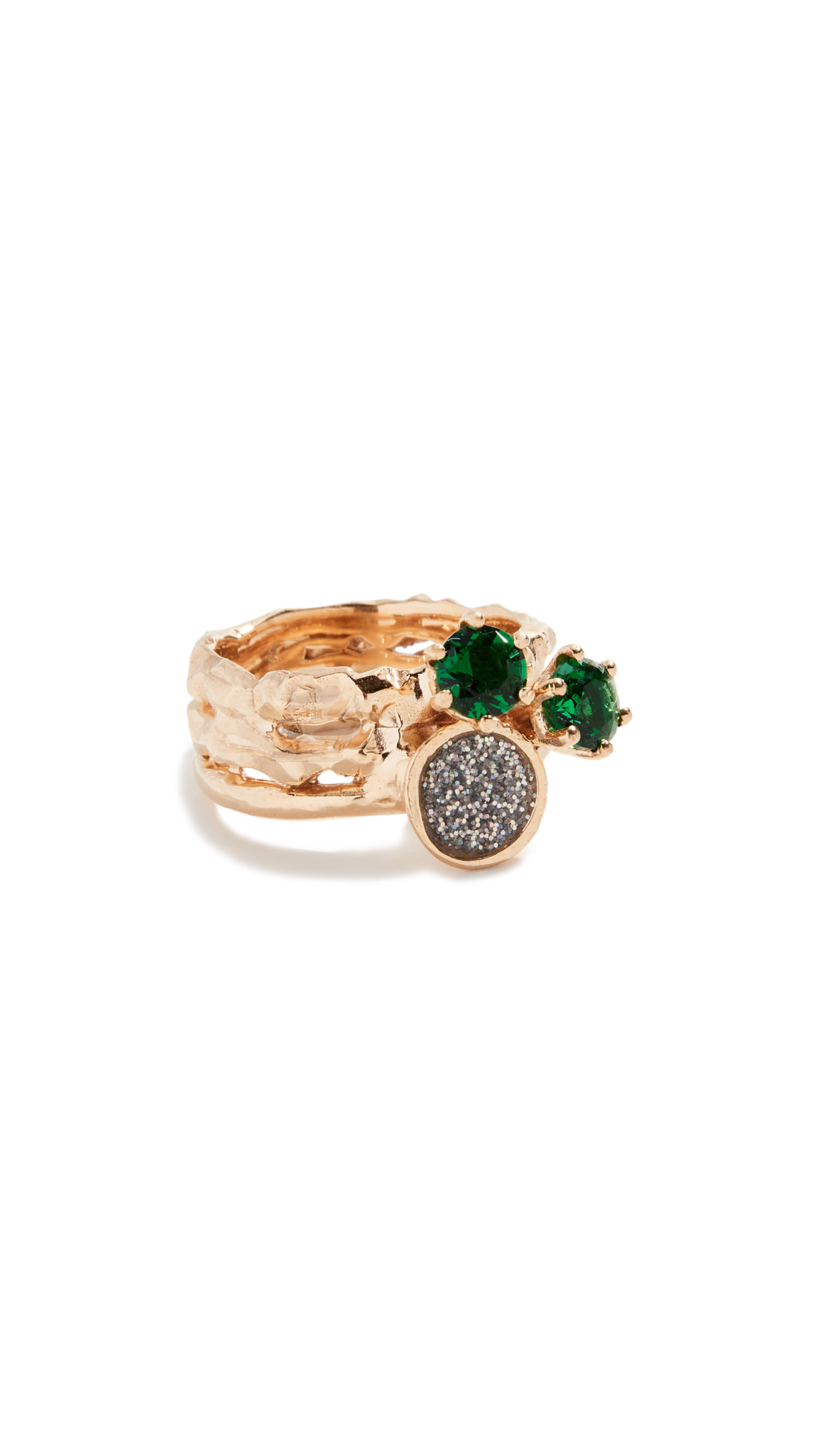 Voodoo Jewels Dora Ring In Green