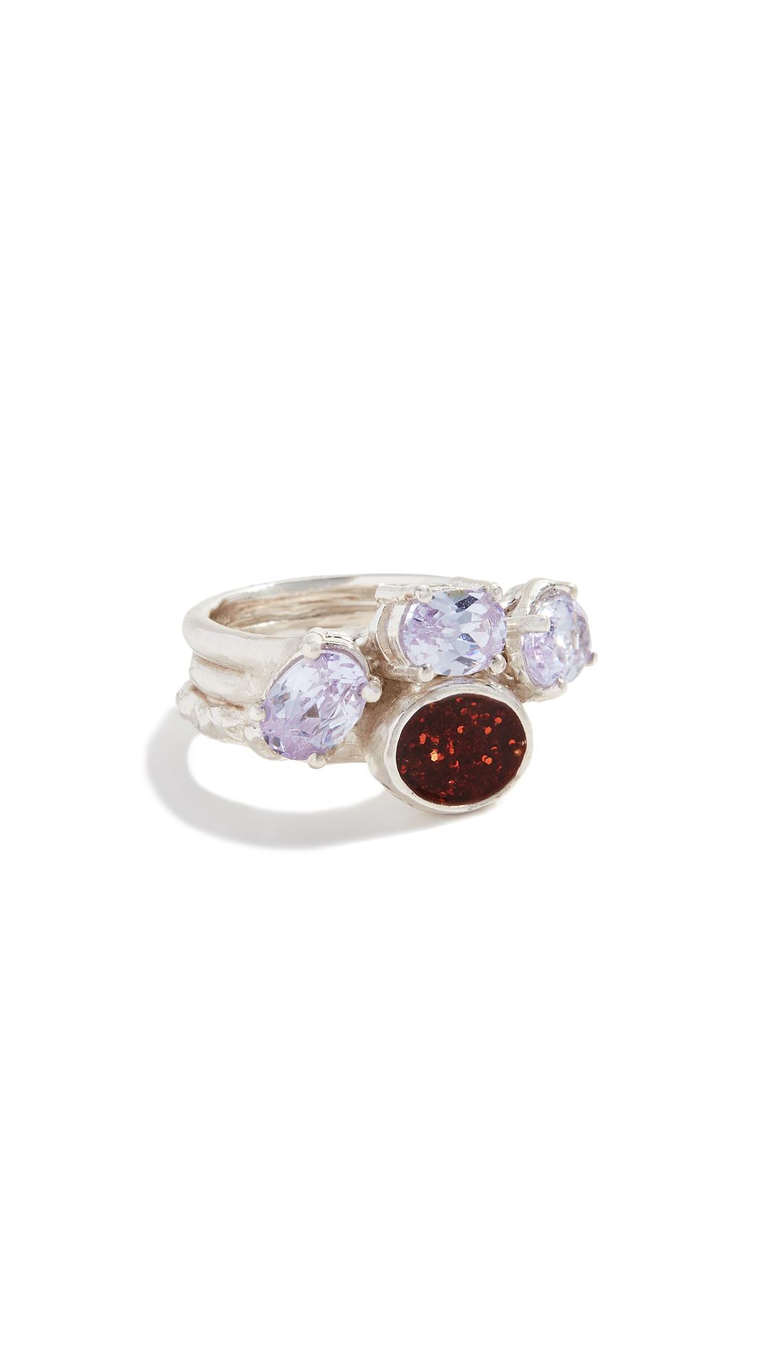 Voodoo Jewels Rodope Ring - Silver/Purple