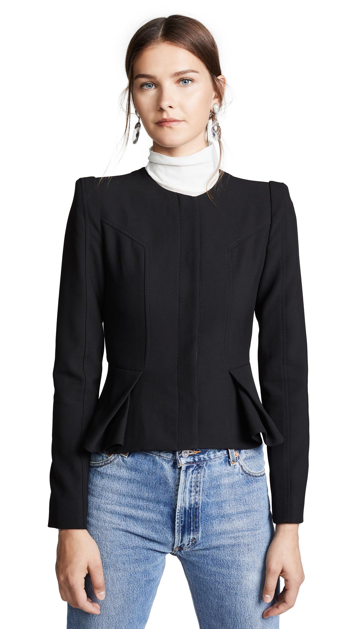 Valentina Shah Olivia Origami Blazer In Black