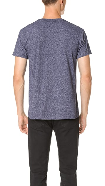 Velva Sheen Mock Twist Short Sleeve Pocket Tee